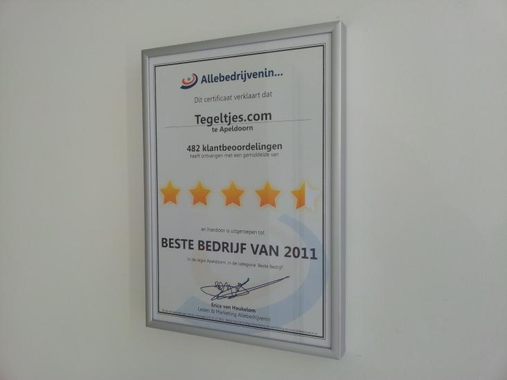 Tegeltjes.com award 2011